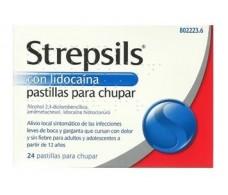Lidocaine Strepsils lozenges 24