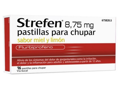 Strefen Honey lemon flavor 8.75 mg 16 lozenges