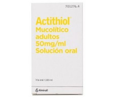 Mucolytic Actithiol Antihistamine Oral solution 200ml.