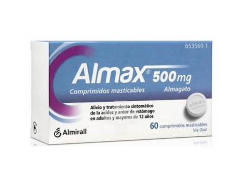 Almax 500 mg 48 Chewable Tablets
