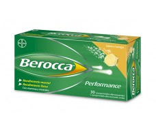 Berocca Performance 30 effervescent tablets Mango flavor.