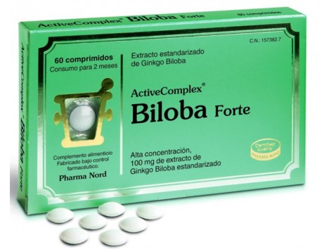 Activecomplex Biloba Forte 60 tablets. Pharma Nord