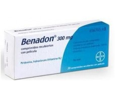 Benadon 300 mg 20 tablets. Bayer
