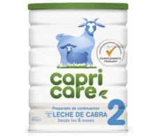 Capricare 2 800gr. leche de continuación entera de cabra