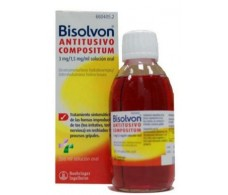 Bisolvon Antitusivo Compositum 3 mg / ml + 1,5 mg / ml solución oral 200ml.