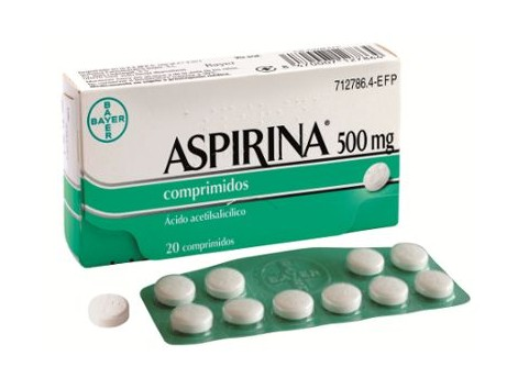 Aspirin 500 mg 20 Tablets