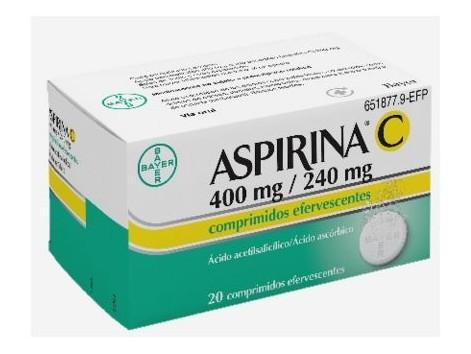 Aspirin C 400 mg / 240 mg 20 Effervescent tablets