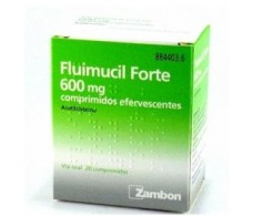 Forte Fluimucil 600 mg 20 effervescent tablets