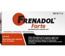 Frenadol Forte 10 Beutel von Granulat für die Lösung zum Einnehmen