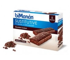 Bimanan Sustitutive Fondant chocolate bar 8 units