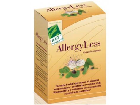 100% Natural Allergyless 60 vegetarian capsules