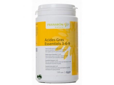 Pranarom Ácidos Grasos Esenciales 3, 6 y 9. (before Omega3 - Q10) Concentration and Memory 120 capsules.