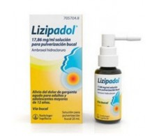 Lizipadol 17.86 mg / ml solution for oral spray 20ml.