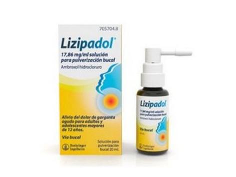 Lizipadol 17.86 mg / ml solution for oral spray 20ml.