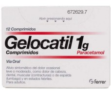 Gelocatil 1g 12 comprimidos