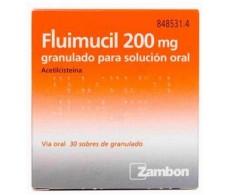 Fluimucil 200 mg granulado para solución oral 30 sobres