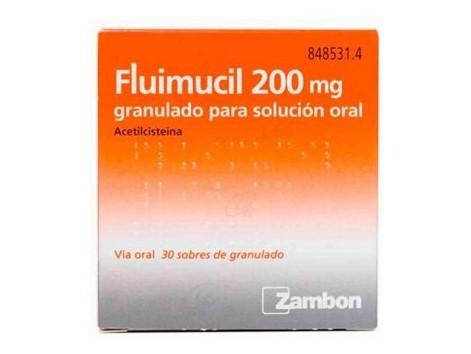 Fluimucil 200 mg granules for oral solution 30 envelopes