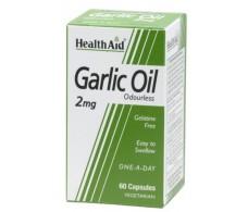 Health Aid Aceite de ajo 2mg 60 cápsulas vegetales