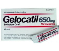 Gelocatil 650mg 12 sobres solución oral