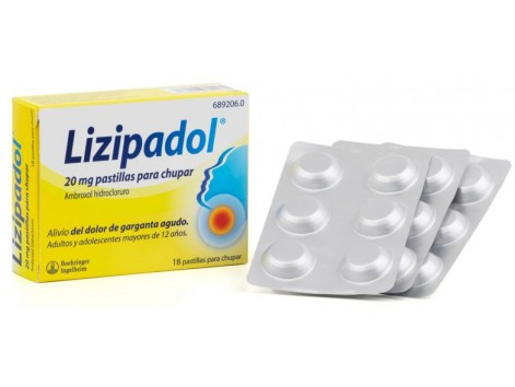 Lizipadol 20 mg 18 lozenges