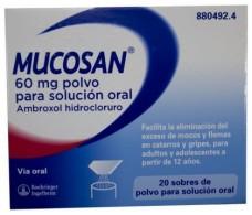 Mucosan 60 mg polvo para solución oral 20 sobres