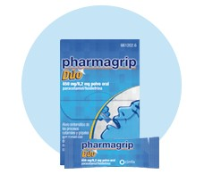 Pharmagrip duo 650 mg / 8.2 mg oral powder 10 envelopes