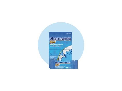 Pharmagrip duo 650 mg / 8.2 mg oral powder 10 envelopes