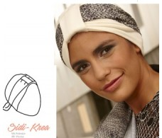 BelleTurban Turban Side-Krea Beige