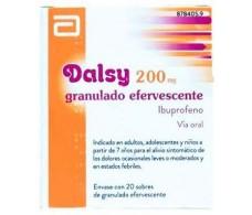Dalsy 200 mg granulado efervescente 20 sobres Ibuprofeno