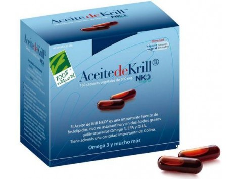 Aceite de Krill NKO 180 Vegetable capsules . 100% Natural.