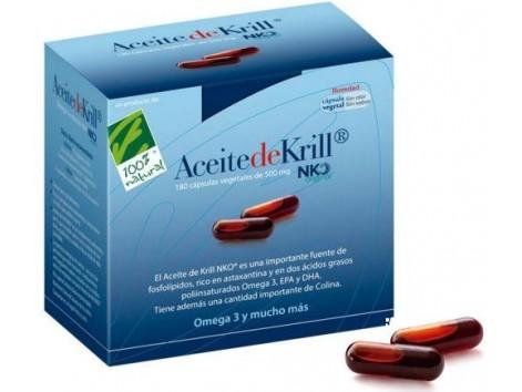 Aceite de Krill NKO 180 Vegetable capsules . 100% Natural.