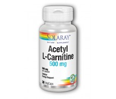 Solaray L-Acetyl L-Carnitine 500mg. 30 capsules. Solaray