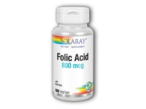 Folic Acid 800mg Solaray. - Folic Acid Solaray. 100 capsules