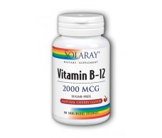 Solaray Vitamin B12 2000mcg. 90 sublingual tablets