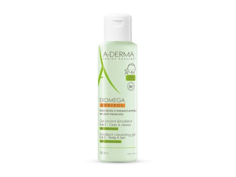 A-DERMA EXOMEGA CLEANSING GEL 2 IN 1 HAIR AND BODY 500 ml