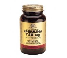 Solgar 100% Hawaiian Spirulina 750mg. (Plankton) 100 tablets