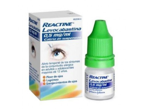 REACTINE LEVOCABASTIN 0.5MG / ML eye drops 4 ml