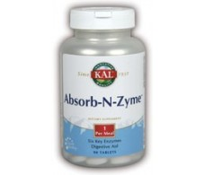 KAL Absorb - N - Zyme 90 comprimidos. Solaray - KAL