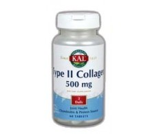 KAL Colageno. Type II Collagen 500 mg 60 comp. KAL - Solaray