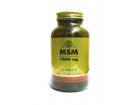Solgar MSM 1000mg. Methylsulfonylmethane 60 tablets