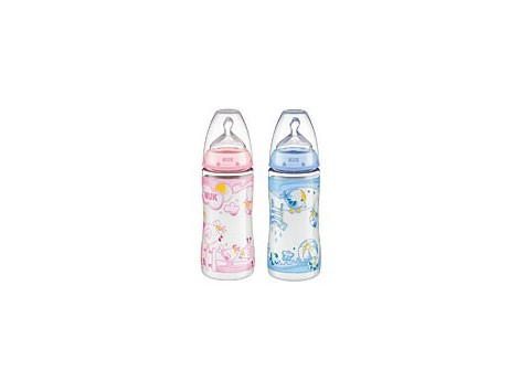 PC Bottle 300ml First Choice ROSA. Silicone Teat