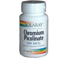 Solaray Picolinato de Cromo 200mg. 50 comprimidos.