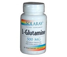 Solaray L-Glutamine 500mg. 50 capsules