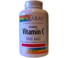 Solaray Vitamin C 500mg. 100 chewable tablets.