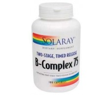 Solaray B Complex 75. 100 capsules delayed action.