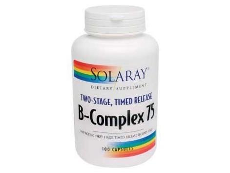 Solaray B Complex 75. 100 capsules delayed action.