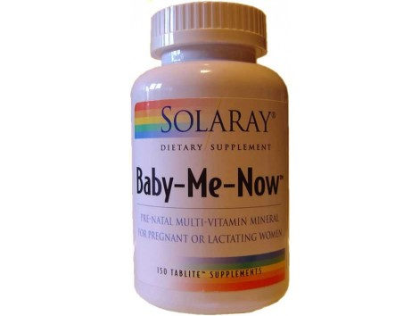 Solaray Baby Me Now. 150 tablets. Solaray