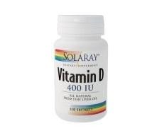 Solaray Vitamina D3 400 UI  120 perlas. Solaray