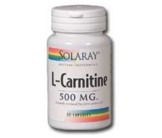 Solaray L-Carnitine 500mg. 30 capsules. Solaray