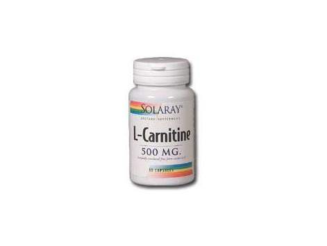 Solaray L-Carnitine 500mg. 30 capsules. Solaray